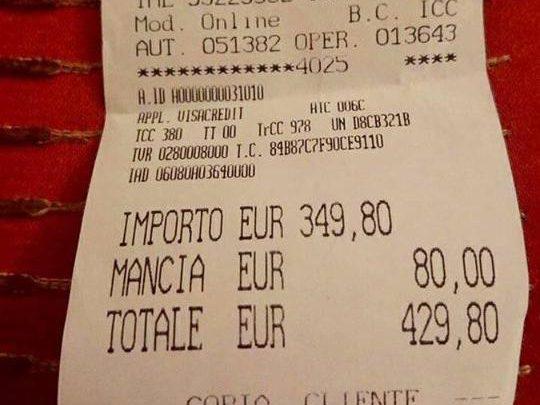 429 euro per spaghetti e acqua, stangata per due turiste giapponesi