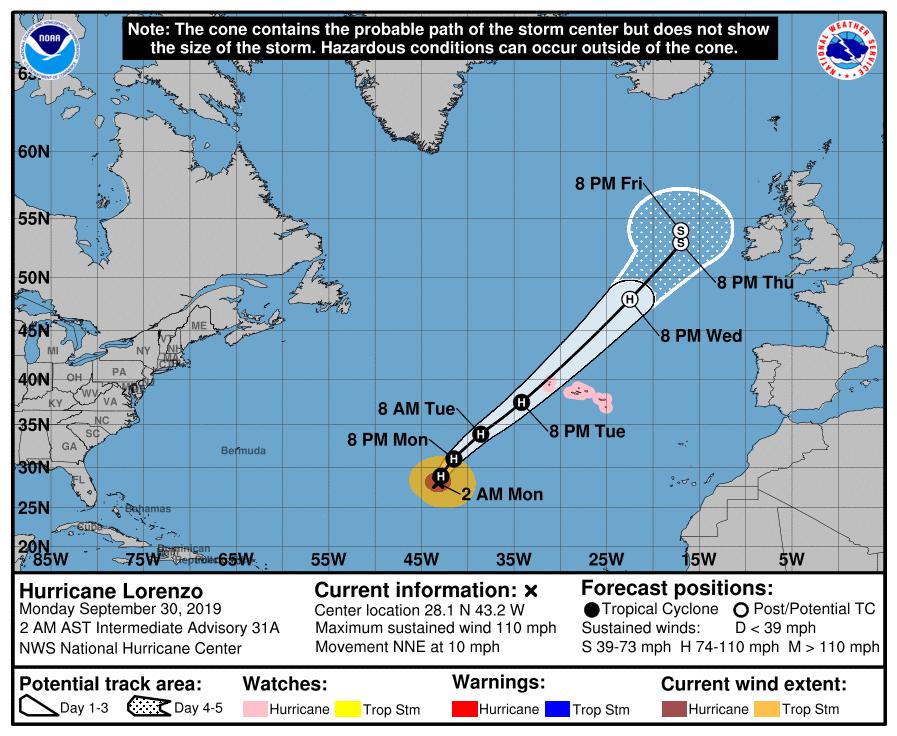 uragano europa lorenzo