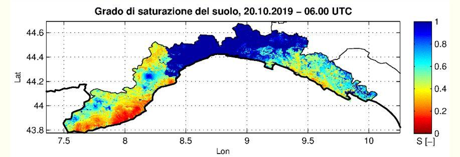 saturazione del suolo in Liguria