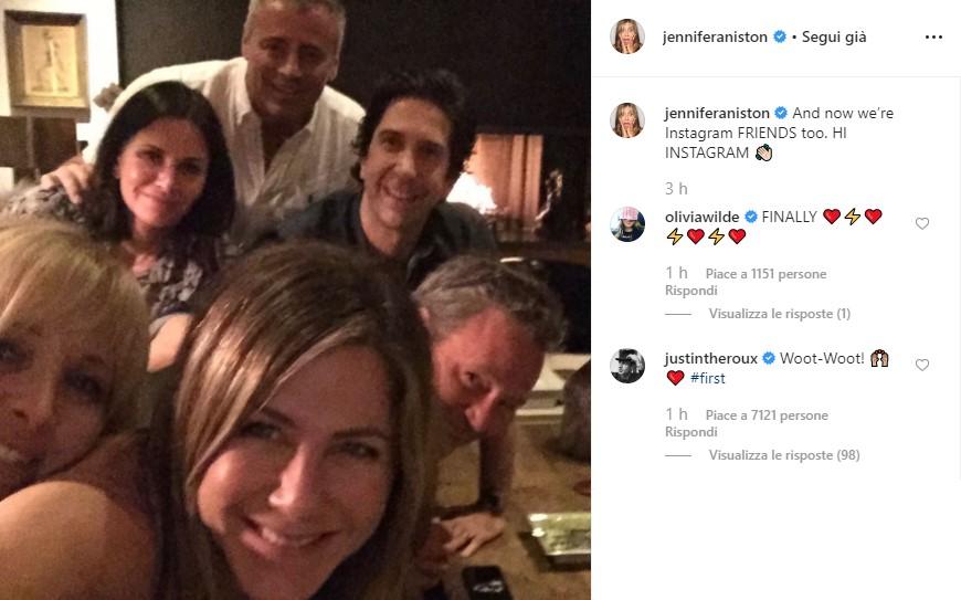 Jennifer Aniston su Instagram