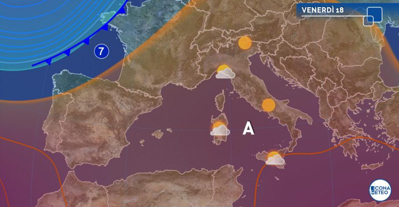 Previsioni meteo 18 dicembre: piogge sparse e temperature stabili