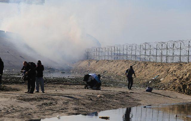 Confine Usa-Messico a Tijuana. Foto ANSA