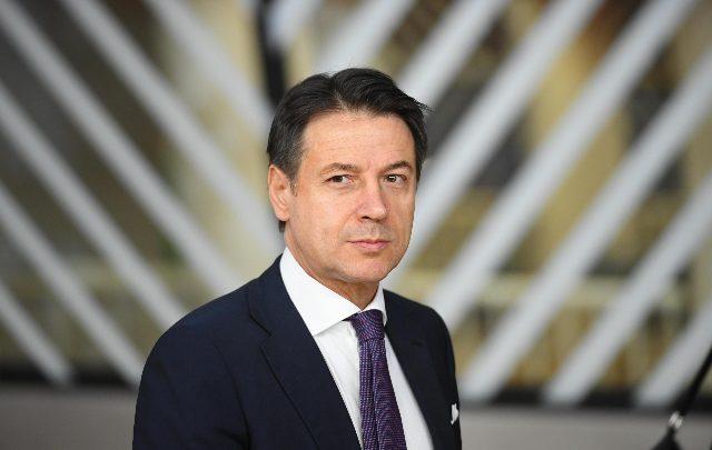 Giuseppe Conte, Presidente del Consiglio parla di infrastrutture. Foto ANSA