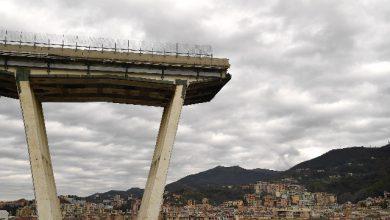 Ponte Morandi. Foto ANSA