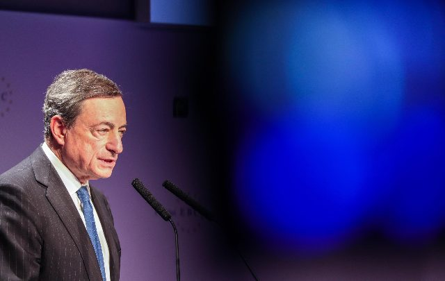 Mario Draghi, Presidente di Banca centrale europea. Foto ANSA