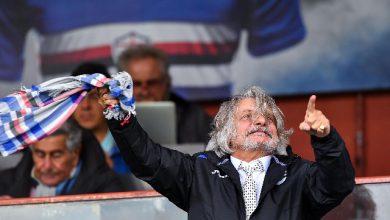 Massimo Ferrero, presidente della Sampdoria. Foto ANSA