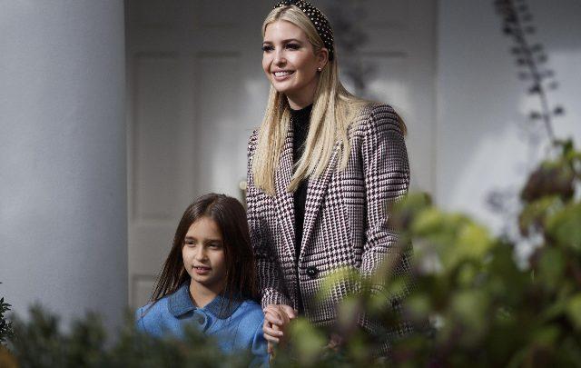 La figlia del Presidente degli Stati Uniti Ivanka Trump. Foto ANSA