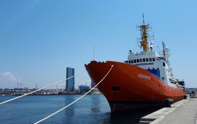 La nave Aquarius. Foto ANSA