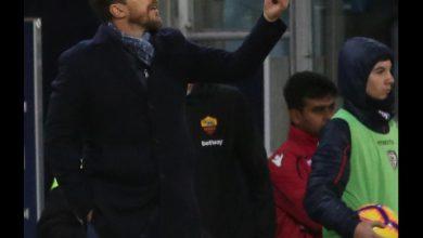 Di Francesco, allenatore Roma. Foto ANSA