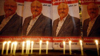 Manifesti in ricordo di Jamal Khashoggi. Foto ANSA