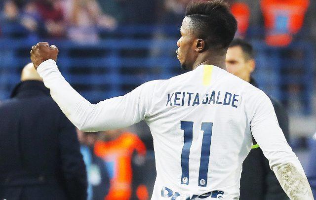Keita Baldé, attaccante dell'Inter. Foto ANSA