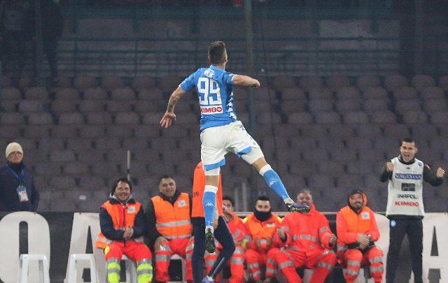 Arkadiusz Milik, attaccante del Napoli. Foto ANSA