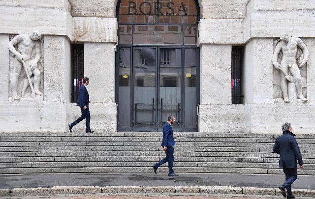 La Borsa di Milano. Foto ANSA