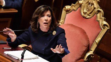 Maria Elisabetta Alberti Casellati, presidente del Senato. Foto ANSA