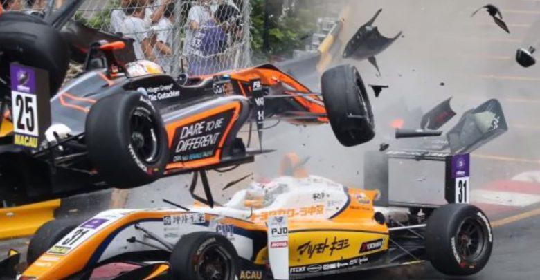 Paura in Formula 3 a Macao, 6 feriti in maxi incidente. VIDEO