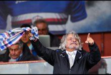 Il Presidente della Sampdoria, Massimo Ferrero. Foto ANSA