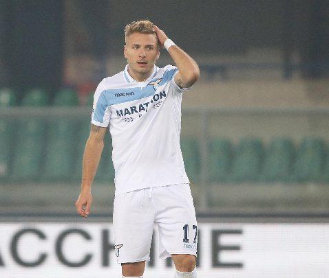 Ciro Immobile, attaccante della Lazio. Foto ANSA