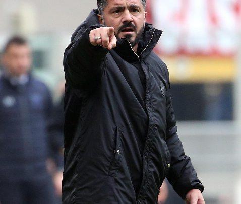 Rino Gattuso, allenatore del Milan. Foto ANSA