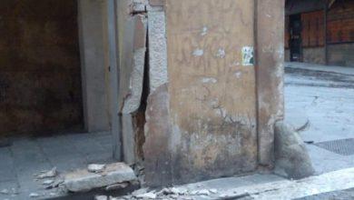 Uffizi: un'auto ha danneggiato una colonna del Vasariano
