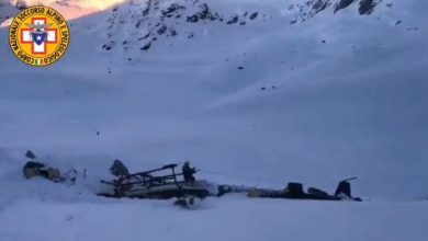 Incidente aereo-elicottero in Valle d'Aosta. Video