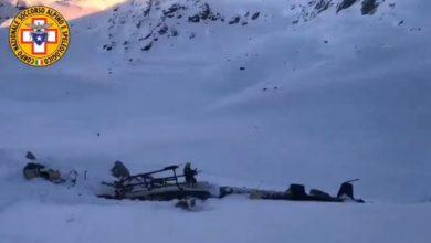 Incidente aereo-elicottero in Valle d'Aosta. Video