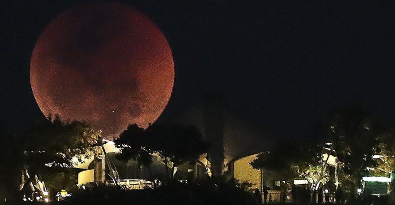 Eclissi totale di Luna a Rio de Janeiro