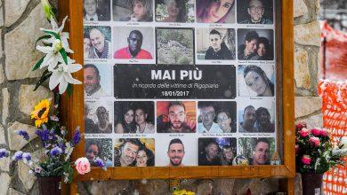 Le vittime di Rigopiano. Foto Ansa
