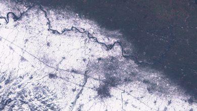 La neve caduta in Emilia. Foto del 24 gennaio dal satellite Sentinel-2