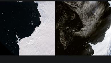 Shrinking glaciers along western Antarctica - Foto NASA