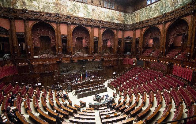 L'aula di Montecitorio. Foto ANSA