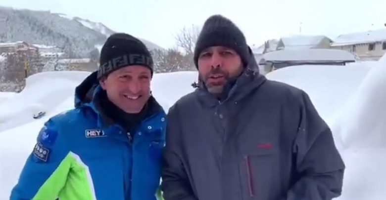 Checco Zalone a Roccaraso, il video con il sindaco