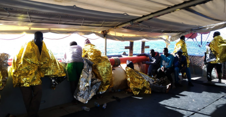 Migranti a bordo della Sea Watch