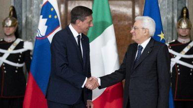 Presidente della Repubblica sloveno con Sergio Mattarella