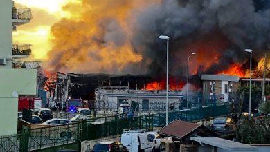 Incendio Casoria, Napoli. Rischio nube tossica