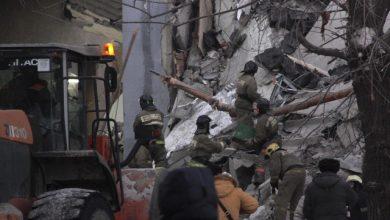 Russia, crollo all'interno dell'edificio che ospita l'Università di Ricerca di San Pietroburgo. Foto ANSA