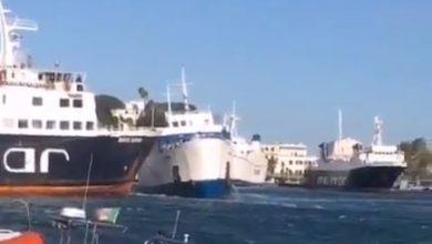 Maltempo, Scontro navi Ischia