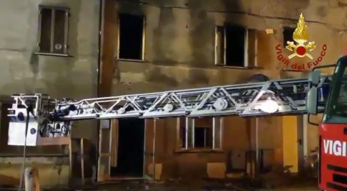 Incendio a Legnago
