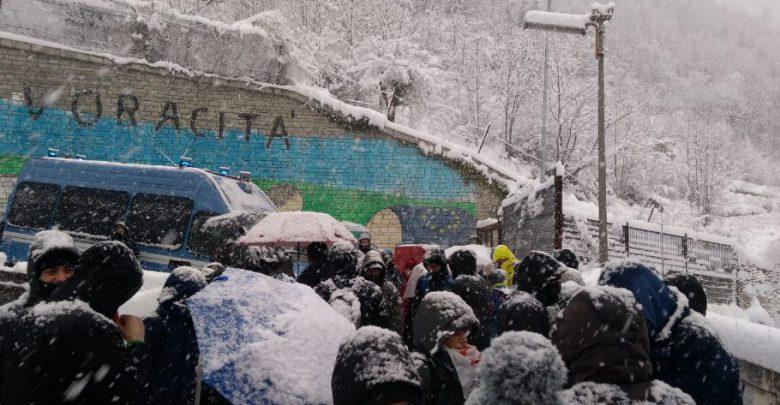 I manifestanti a Chiomonte. Foto da Twitter @notav.info