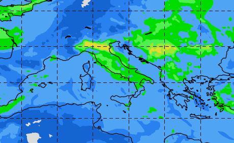 Qualità dell'aria: livelli di smog di sabato 9 febbraio. Fonte Copernicus