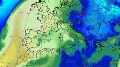 Temperatura delle masse d'aria di giovedì. Fonte Meteo Expert (CENTRO EPSON METEO fino al 2018)