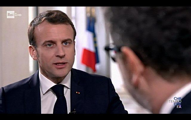 Macron da Fazio - Foto ANSA