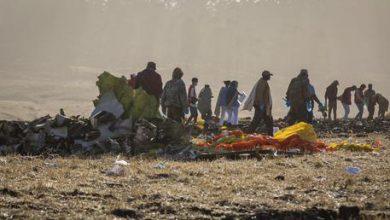 aereo caduto Ethiopian Airlines