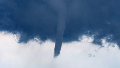 Vortice nel cielo di Chioggia. Foto di Tondo Christian via Tornado in Italia