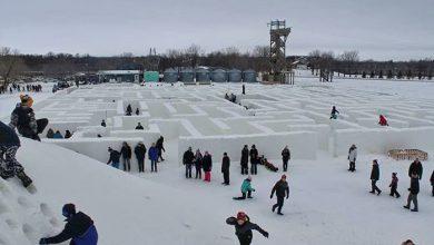 Canada labirinto di neve