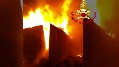 incendio provincia di Caserta