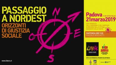 """Padova, corteo """"Libera"""" contro la mafia"""