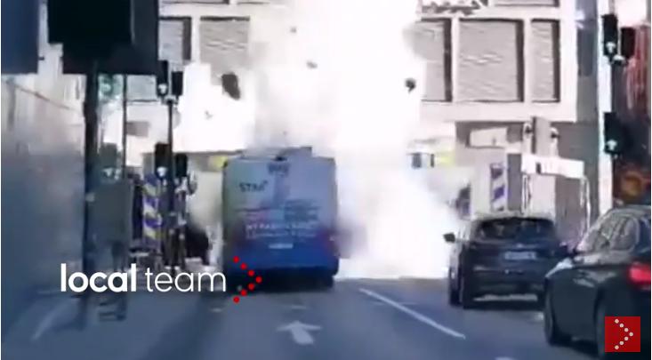 Stoccolma, esplode autobus