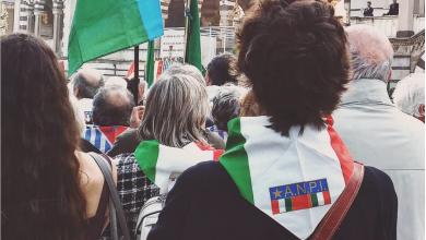 Presidio antifascista - credit: instagram @ ilbrevi80 •