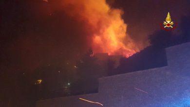 Incendio a Cogoleto, Genova