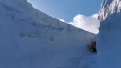 video strada neve majelletta abruzzo